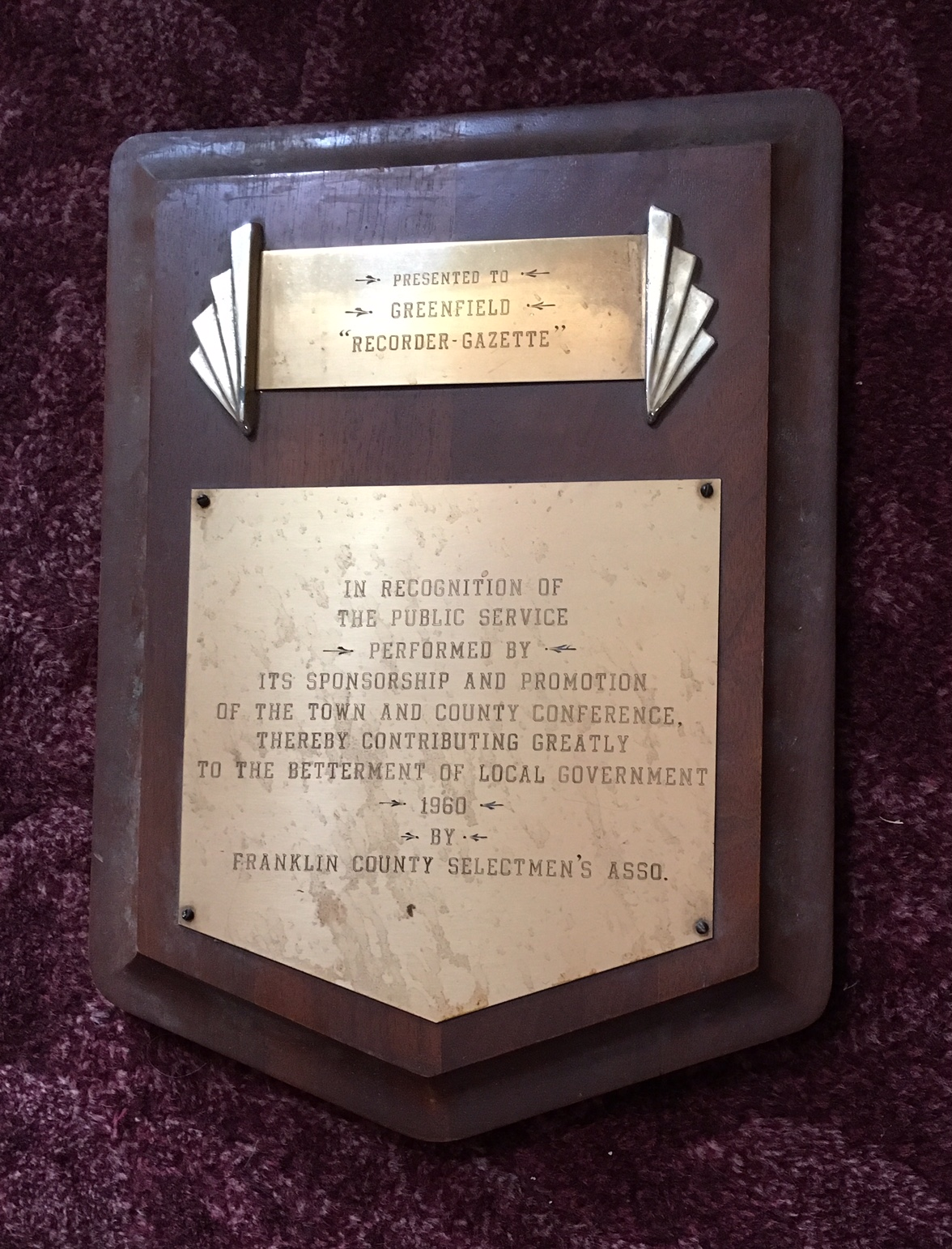 Greenfield Recorder – Greenfield Historical Society